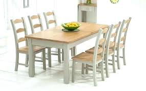 Dining Table Set For Sale Near Me Extendable Round Oak And Grey Painted