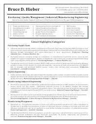 Manufacturing Resume Templates Plant Manager Sample Awesome Quality Engineer Expressoh Production
