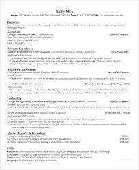 Writing An Objective For A Chemical Engineer Resume Luxury 29 Examples Pdf Doc
