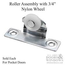 Assembly with 3 4 Inch Nylon Wheel for Pocket Door