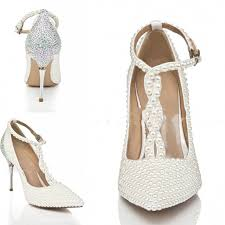 new fashion wedding boots peals high heels white beauty prom