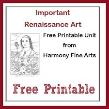Harmony Fine Arts Renaissance Art Printable Unit