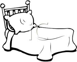 Royalty Free Clip Art Image Black And White Bed With A Pillow
