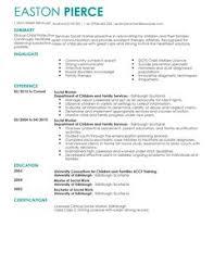 CV Templates For Social Services