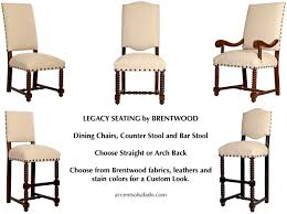 Legacy Leather Dining Chairs Brentwood Classic