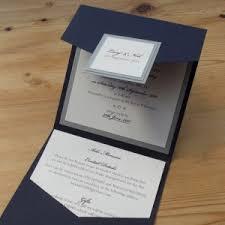 Simple Wedding Elegant Layered Silver And Navy Pocketfold