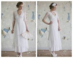 Short Vintage Style Wedding Gown