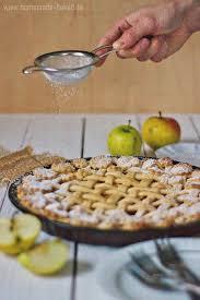 rezept apple pie mit wenig zutaten und kaum zucker