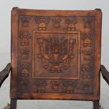A Leather Folding Chair, Second Half Of The 20th Century ... Rd9582 2 Vintage Samson Folding Chairs Shwayder Bros Samso Amazoncom Wooden Chair Modern Ding Natural Solid Leather Home Design Set Of Twenty Four Bamboo Red Home Lifes French Directors In Beech 1960s Antique Armchair With Shadows Stock Photo Luggage On Edit Folding Chair Restorno Chairsantique Arm Chairsoccasional Pair Armchairs In Wood And Brown Galerie