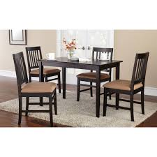Walmart Dining Room Chair Seat Covers by Mainstays 5 Piece Dining Set With Rich Espresso Finish Walmart Com