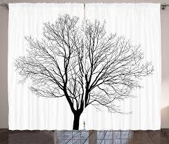 gardine schlafzimmer kräuselband vorhang mit schlaufen und haken abakuhaus schwarz weiss barren maple tree kaufen otto