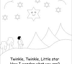 Twinkle Little Star Coloring