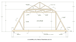 12x12 Gambrel Shed Plans by Medeek Design Inc Truss Gallery
