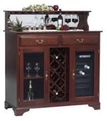 Wine Hutch Rack Cabinet Amish Furniture