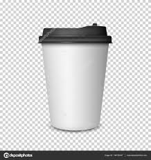 Coffee Cup On Transparent Background Stock Vector