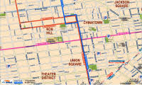 Road Map Of California Center San Francisco Maps Pdf Downtown Union Square Chinatown And Nob Hill Areas