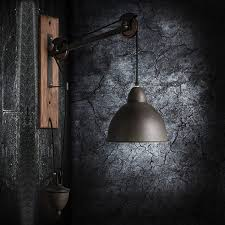 american country style wall light industry retro lift retractable