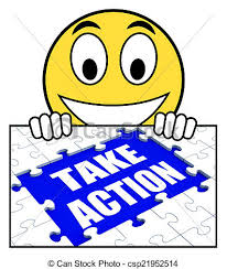 Take Action Sign Shows Motivate To Do Something csp
