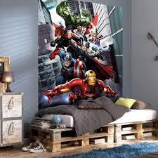 Superhero Bedroom Decor Uk by Disney U0026 Character Large Wall Mural Bedroom Decor Wallpaper New Ebay