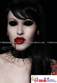 Blue Prescription Halloween Contacts by Black Sclera Pair Cheap Full All Black Sclera Halloween Contacts