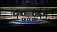 Virtual Set Studio 194 For HD Is A Sports News Desk With Optional And Replacable
