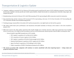 Advisorselect - Transportation & Logistics - Market Monitor - Spring ... Trucks On American Inrstates March 2017 Lking The Philippine Islands Through Highways Of Sea An Dpr Of Regional Rapid Transit System On Delhighaziabadmeerut Route A R T P M O C A G Y N D E R O Roadrunner Temperature Controlled Transportation Systems Charlotte North Carolina Cargo Mercurygate Intertional Tms Ezvision Experience Youtube Otr January By Over The Road Magazine Issuu To Sell Unitrans Quick For 95 Million Untitled Invests In New Learning Management