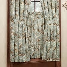 Jacobean Floral Design Curtains by Valerie Jacobean Floral Short Length Window Treatment