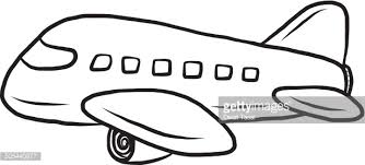 Airplane Clipart Black and White Air Plane Vector Art Getty