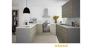 unbekannt küchenblock 161306 küchenzeile komplett küche u form 9 tlg grau latte