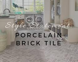 style statement porcelain brick tile