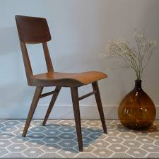 chaise de bureau vintage pieds compas lignedebrocante brocante