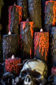 Halloween Battery Operated Taper Candles by Blood Candles The Navage Patch