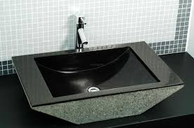 Trough Bathroom Sink With Two Faucets Canada by Granite Bathroom Sinks Crafts Home