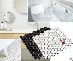 großhandel moderne schwarze und weiße sechs ecke mosaik kleine bodenfliese küche und bad fliesen balkon waschküche bodenfliese highqualit02 585 7