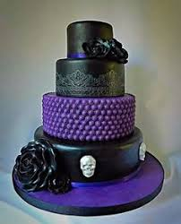 Black And Purple Skull Cake