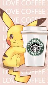 Pikachu Starbucks Phone Wallpaper