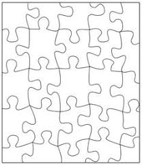 Blank Jigsaw Puzzle Template And DIY Piece Instructions TONS Of Other Free Templates