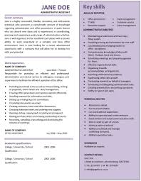 Cv Format For Admin Assistant Resume Examples Administrative Executive Template Australia 100 S