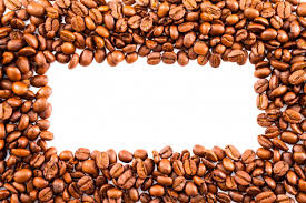 Frame Or Border Of Roasted Brown Coffee Beans Premium Photo