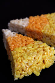 Rice Krispie Halloween Treats Spiders by Candy Corn Rice Krispie Treats Amy U0027s Healthy Baking