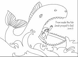 Stunning Jonah Bible Coloring Pages With Story And Gospel