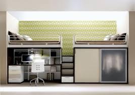 Plans For Bunk Bed With Desk Underneath by Bedroom Space Saving Solutions With Cool Bunk Beds For Teenager
