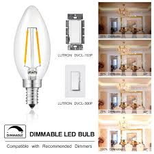 sunmeg 2w dimmable chandelier light bulbs c35 candelabra bulb
