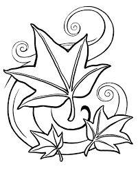 Printable Leaf Coloring Pages For Kids Page Shapes Medium Size