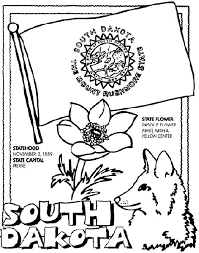 South Dakota State Symbol Coloring Page By Crayola Print Or Color Online