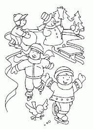 Clip Art Winter Fun Coloring Pages 41 Preschool Printable Panda