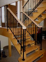 Decorations: Banister Railing | Wood Banister | Indoor Stair ... Interior Modern Wood Stair Railings Style Interior Building Parts Handrail Spindles Outdoor Kits Railing For Stairs 32 Ideal Best 25 Stair Railings Ideas On Pinterest Rustic Custom And Handrails Custmadecom Bennett Company Inc Home Stairway Wrought Iron Balusters Custom Handmade By Dunbar Woodworking Designs Custommade Painted Chaing Your Balusters To Wrought Iron Fancy