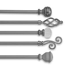 Cambria Curtain Rods Bronze by Decorative Window Curtain Rods Curtain Rod Brackets U0026 Finials