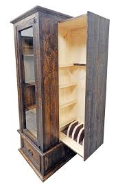 05 2 15W 22M Curio Gun Cabinet Million Dollar Rustic