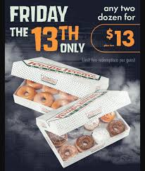 Motley Pumpkin Patch by Krispy Kreme Friday The 13th Doughnut Deal Is Here